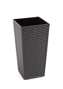 FINEZJA 350x350 rattan -  grafit metál