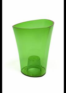 WENUS kaspó - zöld transzparens