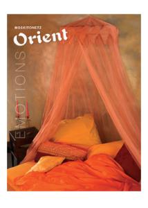 Moszkítóháló Ф 60 cm, orient narancs
