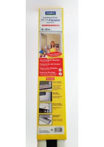 Szúnyoghálós védőablak 80x100 cm, fehér