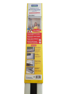 Szúnyoghálós védőablak 110x130 cm, fehér