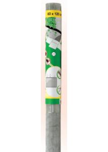 Szúnyogháló alu, pince felülvilágítóra, 120x60 cm, szürke
