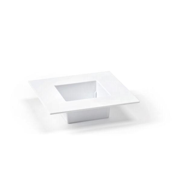 IKEBANA tál 190x190 - fehér