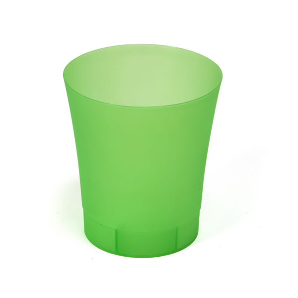 ORCHIDEA kaspó O 125 - zöld transzparens