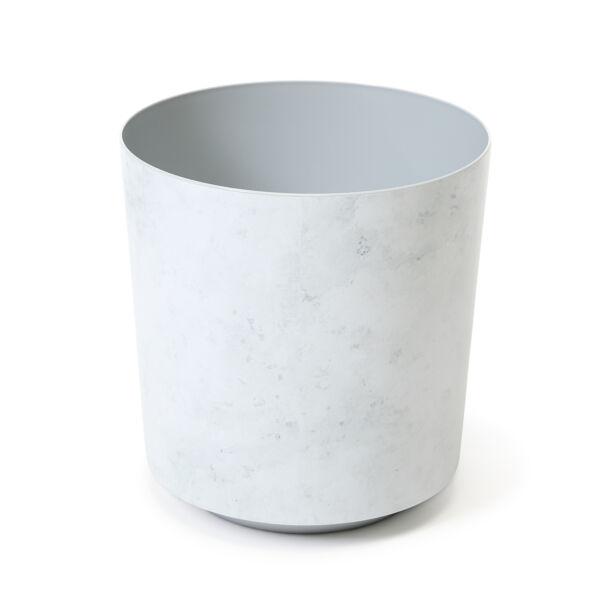 SOLO virágkaspó O 195, fehér márvány